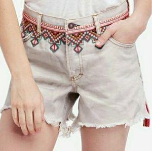 Free people boho festival distressed shorts 30